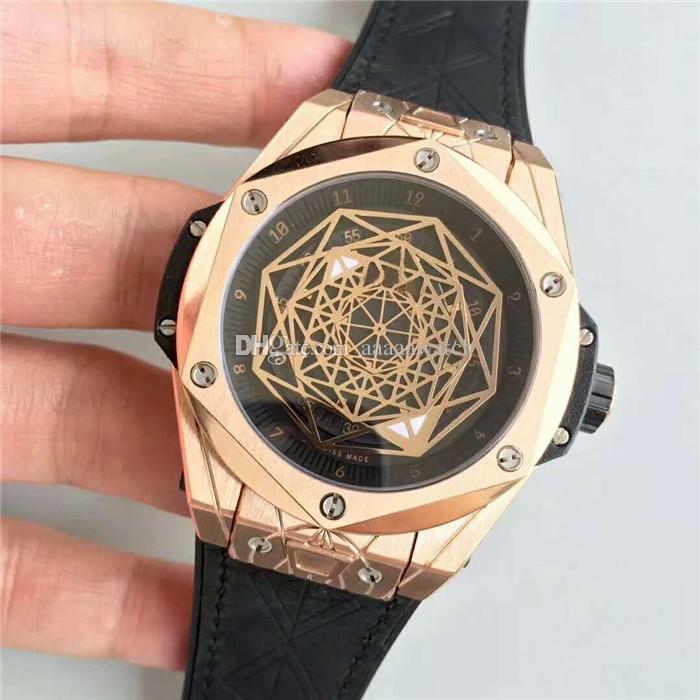 Top Luxury Watch 27 diamond Swiss 1213 Automatic Movement 28800 vph CNC 316L Steel Rose Gold Case Skeleton Dial coating Sapphire Crystal