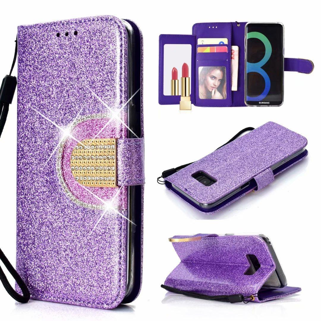 Glitter Crystal Sparkle Bling Leather Case for Samsung S10 plus 5G e A10 A20 A30 A40 A50 A70 M30 M20 M10