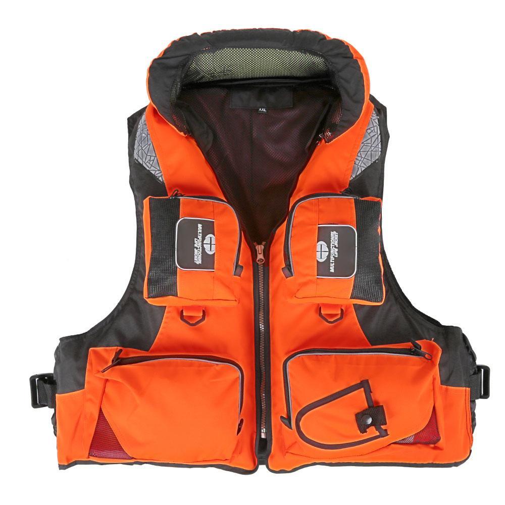 Sport Wear agua de las camisas de poliéster para adultos Piscina Vida Profesional salvavidas a la deriva Por Navegación Pesca supervivencia Chaqueta de Seguridad