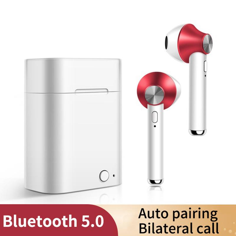 Newest D012 TWS Bluetooth 5.0 headset Metal Wireless Stereo Earbuds sport Earphone For iphone 11 pro max Samsung Sony music earphones