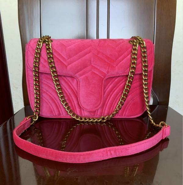 Neue Designer-Marmont Samt Tasche Handtasche Frauen Berühmte Marke Umhängetasche Sylvie Designer Luxus Handtasche Brieftasche Kette Mode Crossbody Bag