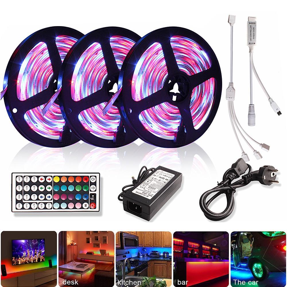 Oda TV için LED Şerit 12V LED Işık Şeridi RGB Bant Esnek Neon Şerit Diyot Bant SMD 5050 LED Şerit Işıklar Arka Işık