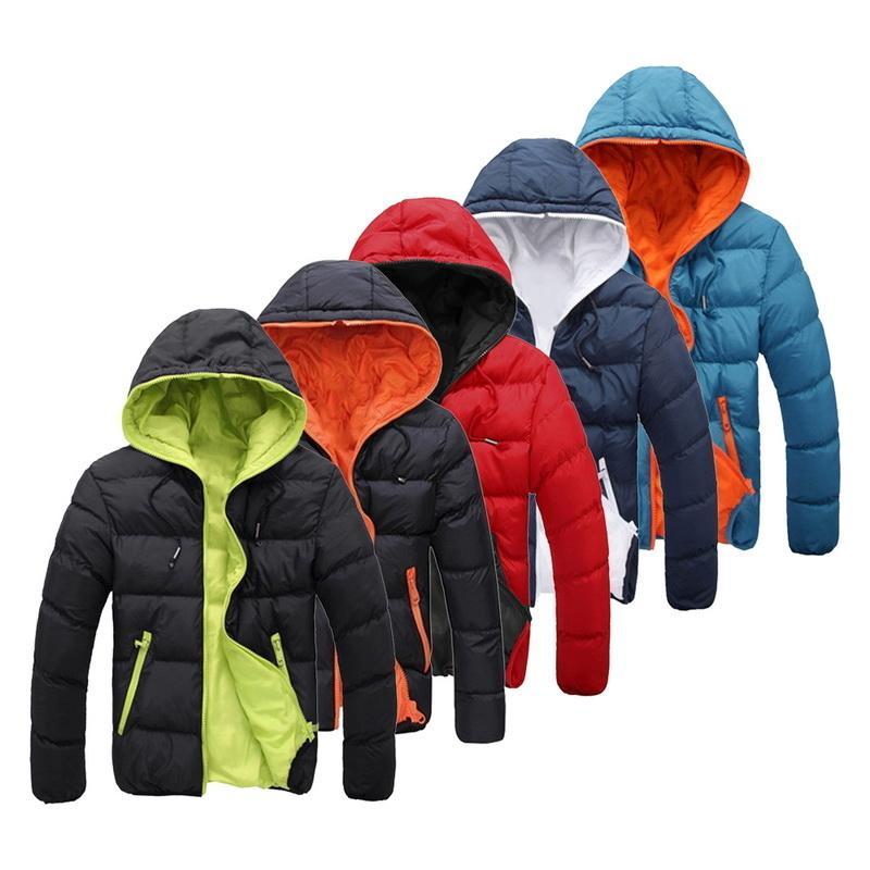 2019 chaqueta de invierno para hombre de alta calidad caliente grueso de la chaqueta abajo cubre Hombre Marca nieve parkas abrigos para hombre sudaderas ropa de abrigo MX191121
