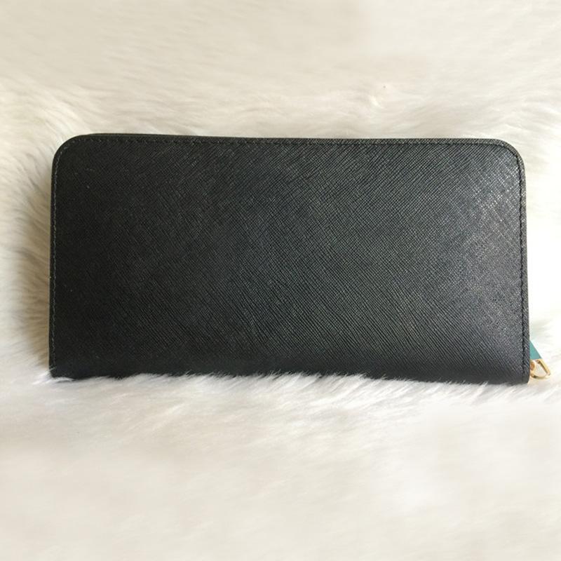 الحرة الشحن امرأة جلد طبيعي السيدات محفظة جودة عالية طويلة واحدة سستة محافظ الصليب نمط 008 محفظة مع بطاقة مربع أبيض
