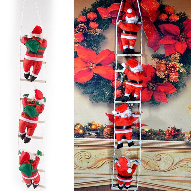 Bambola di natale appesa scaletta Babbo Natale del pendente ornamento non tessuto Kawaii regalo di Natale creativo decorazione