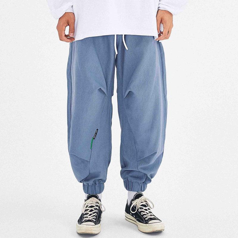 Мужчины вскользь Сыпучие Гаремные Мужской Streetwear Hip Hop Vintage Wide Leg Брюки Jogger Sweatpants