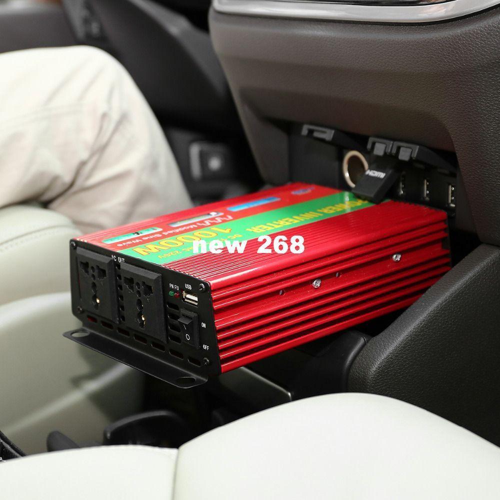 Freeshipping 1000W Car Vehicle DC 12V to AC 220V Power Inverter Adapter Converter w/ USB Port / Dual Universal Socket - Red