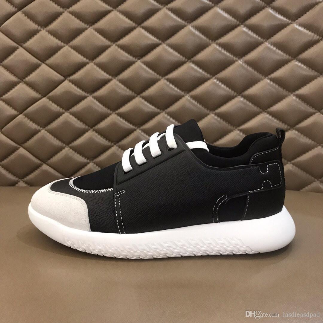 plate-forme de luxe New Chaussures de sport, bottes pour hommes, chaussures de sport, conseil Designer Slides mocassins britanniques hommes, jeunes respirant chaussures simples RD347