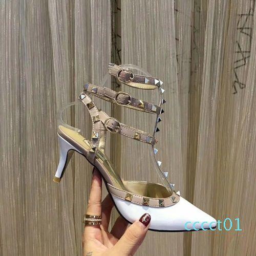 Designer sandals strap heel dress sandals Suedue patent Flip Flops leather shoes luxury sandals with box size 35-41 women slippers ct01