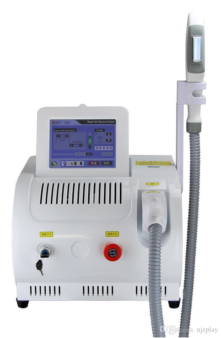 Máquina portátil SHR IPL máquina de depilación permanente máquina de rejuvenecimiento de la piel pigmento edad manchas eliminación tratamiento del acné máquina de salón de spa