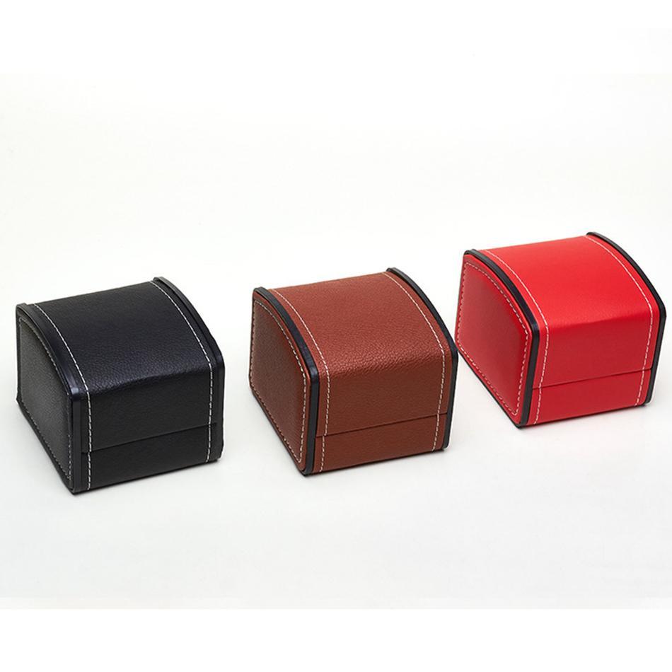PU عرض الحقائب والجلود ووتش مربع تخزين رائعة هدية البضائع صناديق تخزين المجوهرات مربع ووتش القضية حامل لصالح حزب LJJA3621