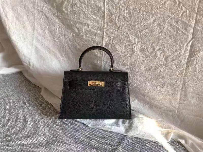 monedero de lujo 2020Designer-Hams cuero genuino 20cm Kily monederos mujeres del bolso de totalizadores de la manera bolsos crossbody hombro