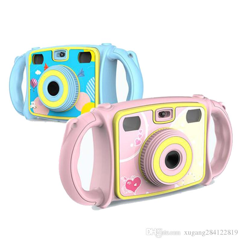 HD 1080P Children Mini Digital Camera Waterproof Dual Lens LCD Screen Toddler Toy Christmas Gift for Kids Photo Video Recorder Photography