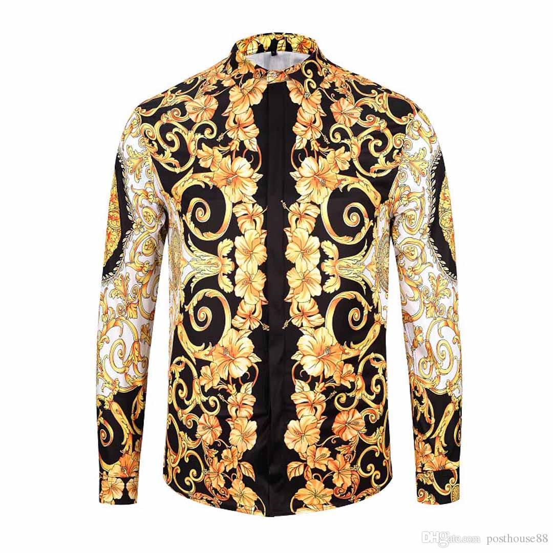 2019 новые мужские рубашки мужские деловые рубашки мужские рубашки с длинными рукавами медузы ретро роскошные рубашки