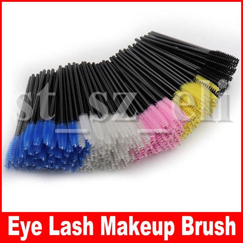 50pcs/pack Eyelash Eye Lash Makeup Brush Mini Mascara Wands Applicator Disposable Extension Tool 51 Colors
