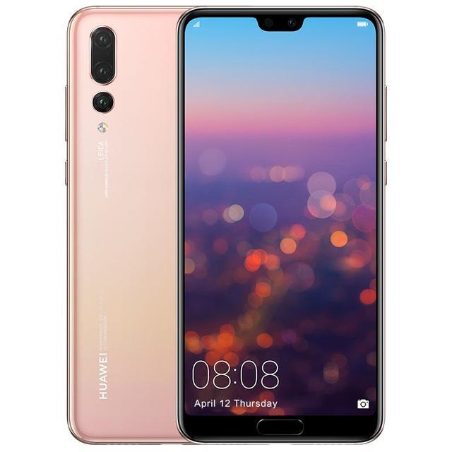 Original Huawei P20 Pro 4G LTE-Handy 6 GB RAM 64 GB 128 GB 256 GB ROM Kirin 970 Octa-Core Android 6.1 Zoll 40MP Fingerabdruck-ID-Handy