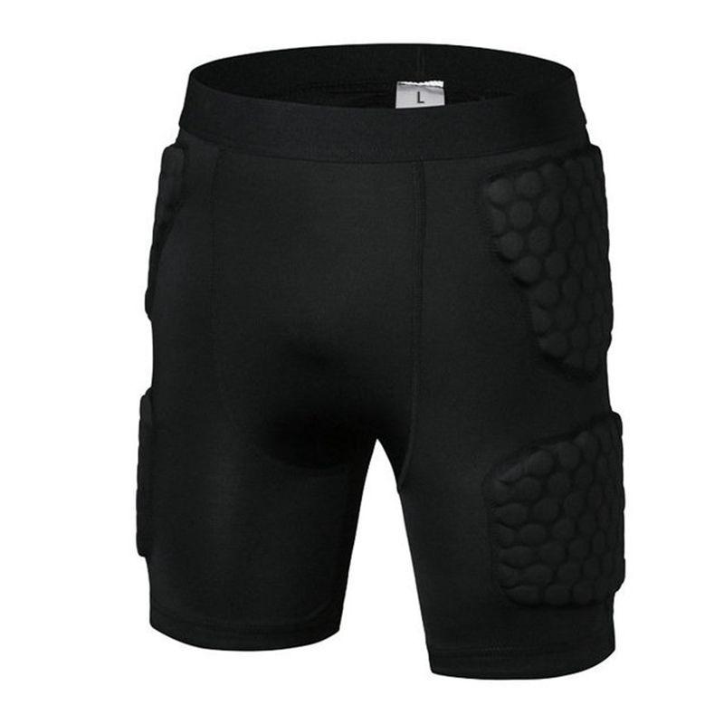 Anti collisione pantaloncini da basket piede dispositivi di protezione delle gambe ventilazione palle pantaloni di forma fisica di protezione di calcio di formazione pratica di calcio