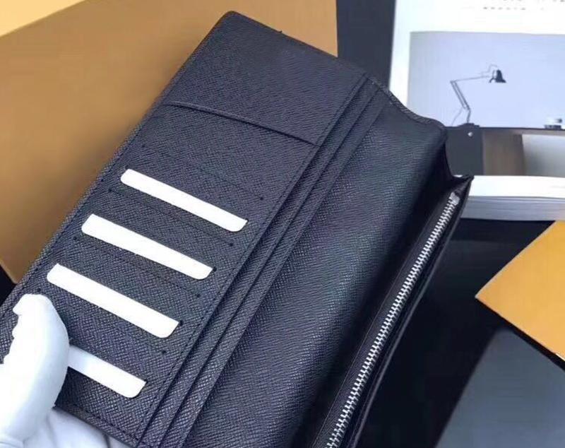 Qualità eccellente 2020 classic portafoglio standard di organizzatore del sacchetto soldi borsa lunga zip pouch damier taschino compartimenti note all'ingrosso