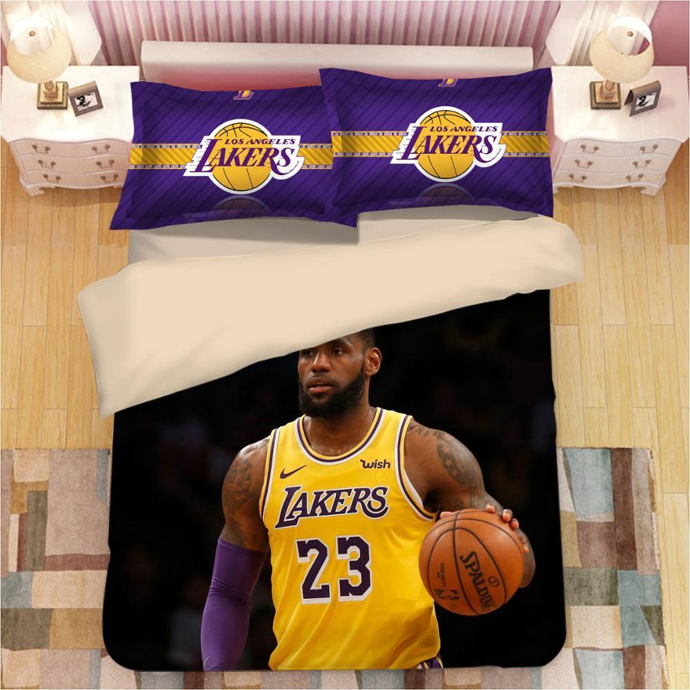 3 Piezas Sistemas del lecho funda nórdica estrella del baloncesto James Curry impresión 3D Conjunto de ropa de cama Twin Queen King Size En stock