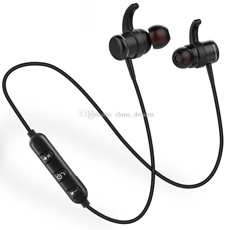 T1 Wireless Bluetooth Headphone Earphones Metal Bass Neckband Earphone With Mic Magnetic Headphone For Android Phone Iphone Headset For Phone Wireless Headsets From China Dreams 14 58 Dhgate Com