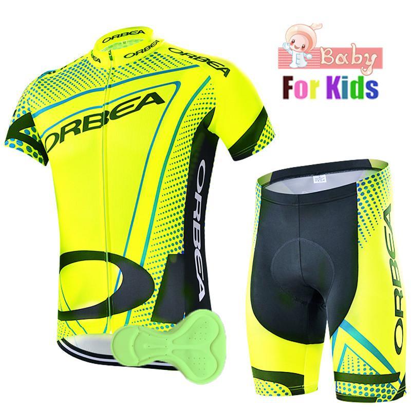 Orbea Team детей лета задействуя Джерси Set Мальчики Велосипед Одежда Шорты детские комплекты велосипедов Ropa Ciclismo / дышащий и Quick Dry