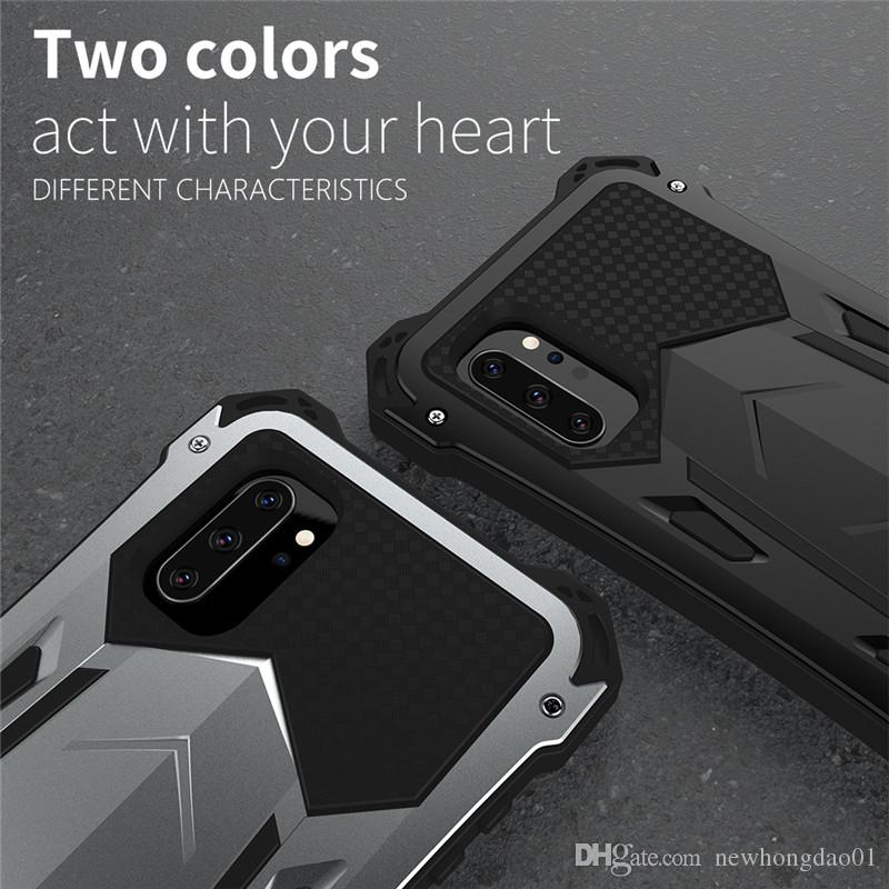 R-JUST Original Metal Phone Cases for Samsung S10 5G Plus Note 9 10 Aluminum Silicone Luxury Steel Case Full Protection Cover