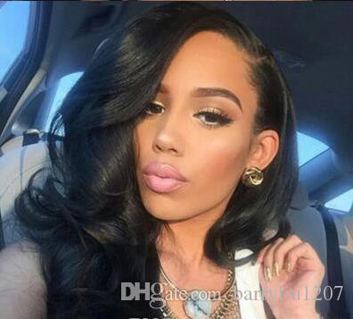 2020 новое прибытие полный шнурок человеческих волос парики бразильские волосы объемная волна кружева фронт человеческих волос парики для чернокожих женщин
