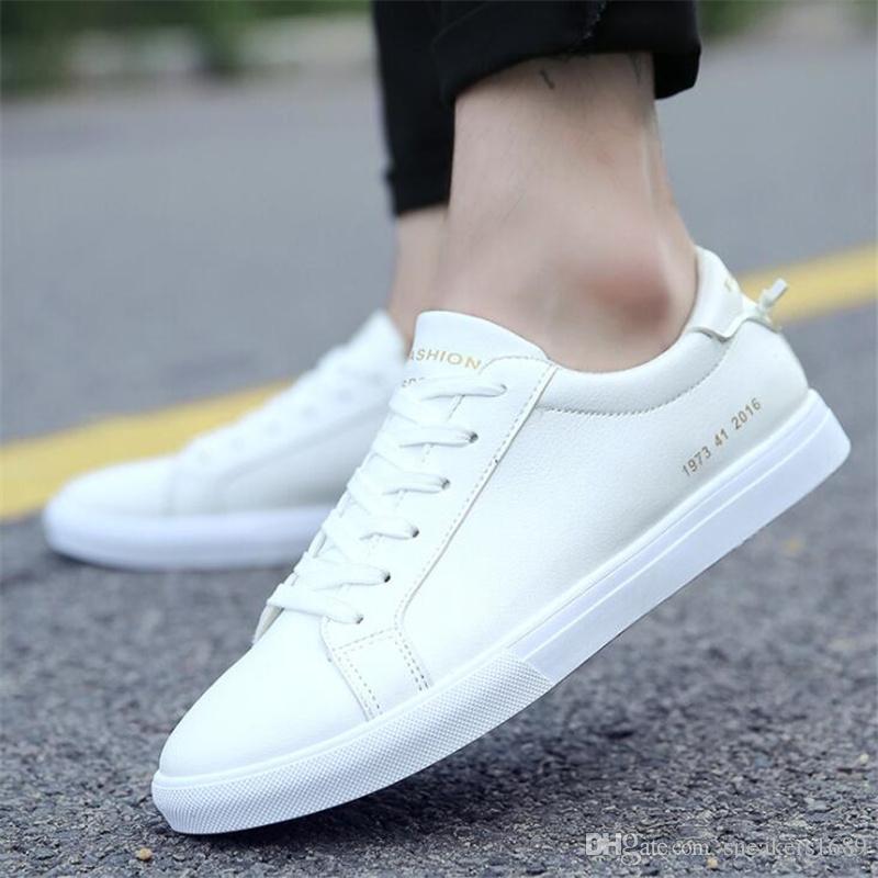 Männer weiße Freizeitschuhe Mode Schwarzlicht bequeme Schuhe X150