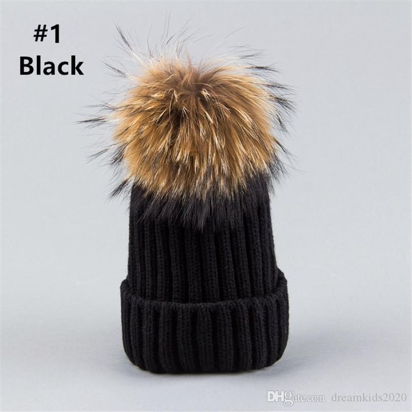 UK Boys Girls Pom Pom Baseball Cap Kids Winter Fashion Hats Xmas Gifts