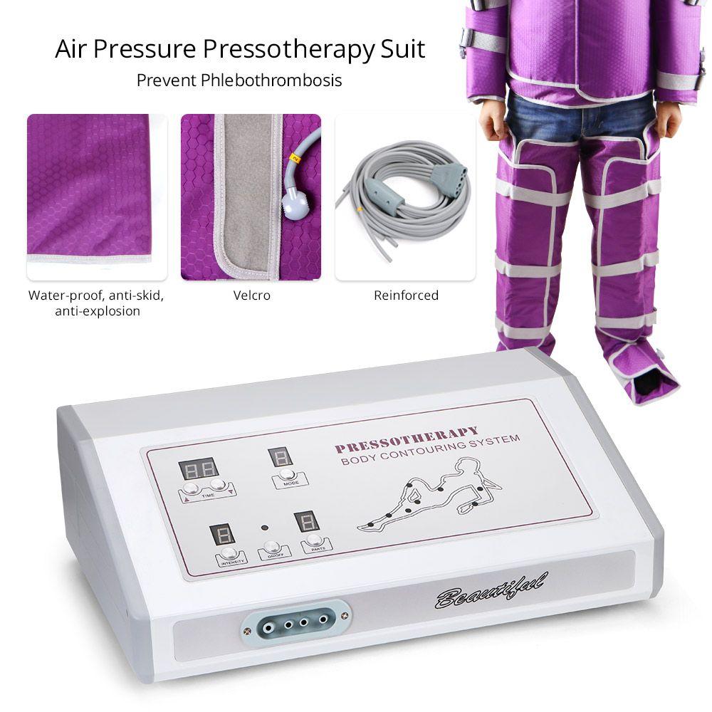 No hay presión de aire laterales Efecto de drenaje linfático que adelgazan el juego de pérdida de Presoterapia Contorno Corporal Peso de la máquina Sauna