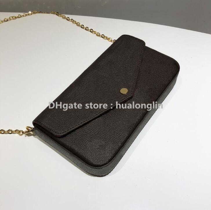 المرأة حقيبة يد محفظة الأصلي رمز تاريخ مربع الأزياء المدقق الجملة زهرة منقوشة