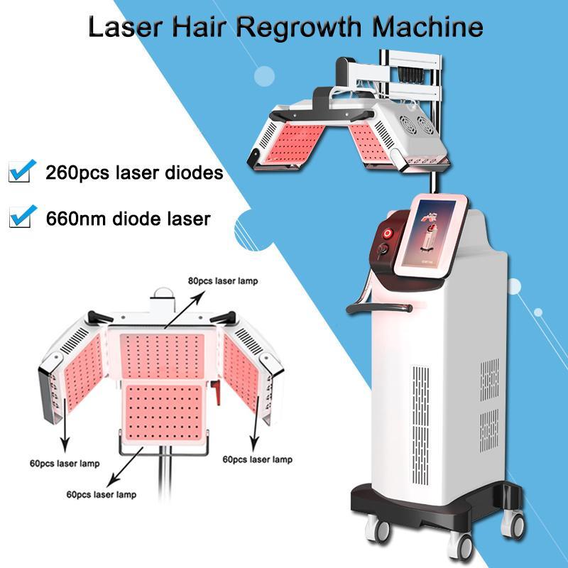 most popular 260pcs laser diodes anti loss treatment adjustable machine anti hair loss user manual approved Japan Mitsubishi lamp