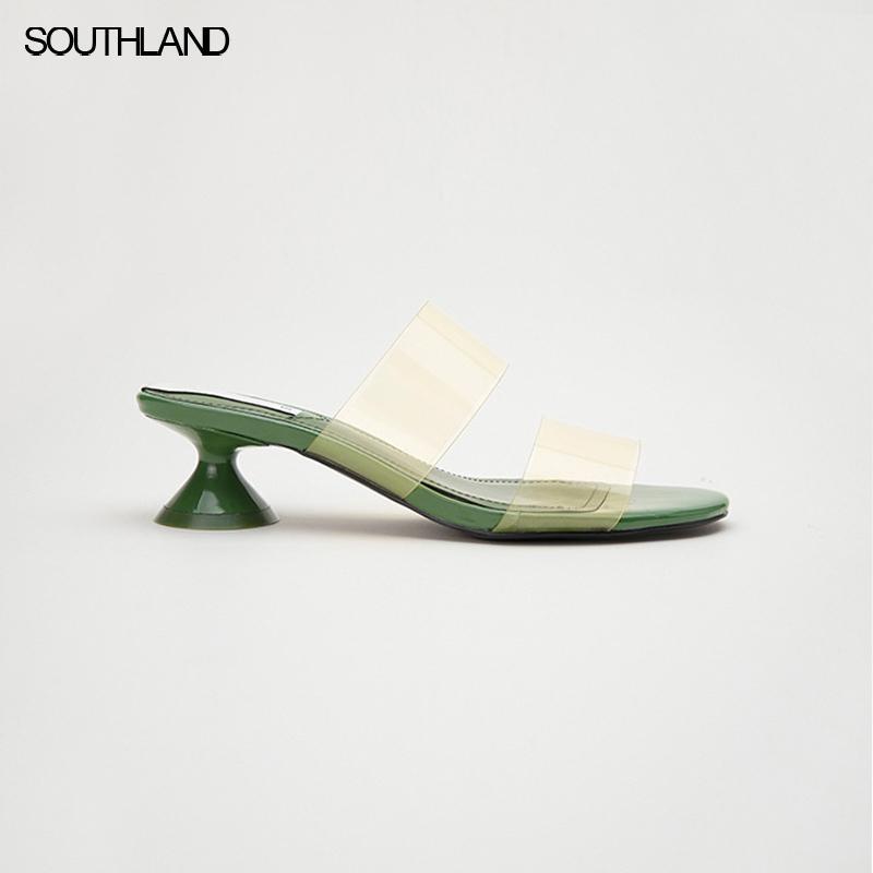 Southland летние четкие верхние женщины скользит скользят по странной пятки женщин сандалии