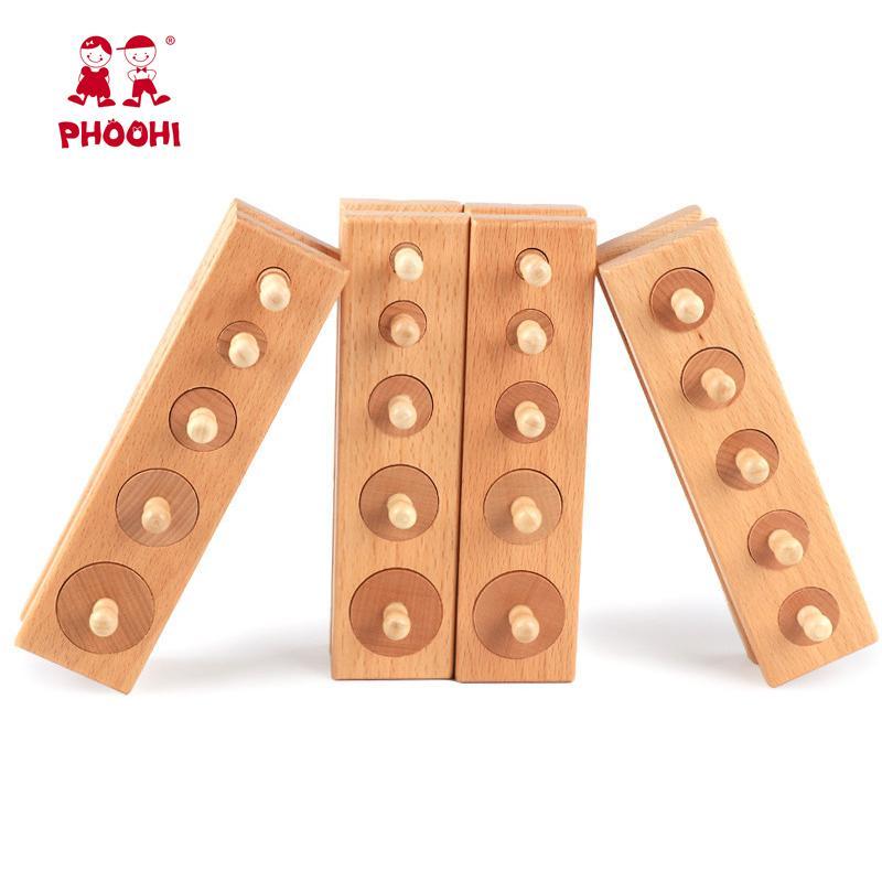 Elm Soket Silindir Montessori Eğitim Oyuncak ahşap bebek erken 2-4 yaşında çocuklar öğrenme oyuncaklar