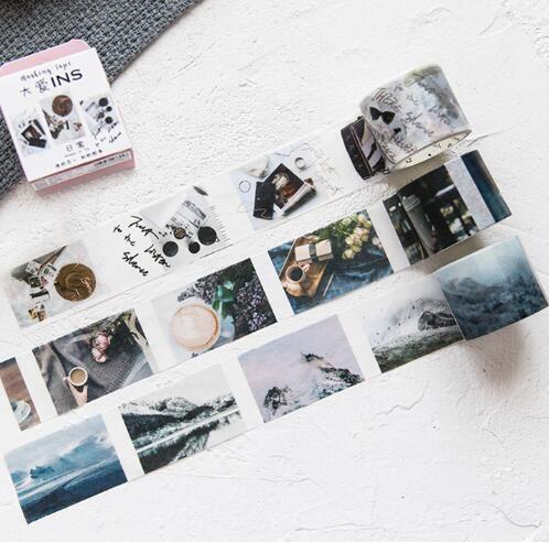 Washi Tape para el bricolaje envoltura de regalos Scrapbooking y Craft adhesivo adhesivo cinta adhesiva de papel con preciosos patrones impresos arte de la pared