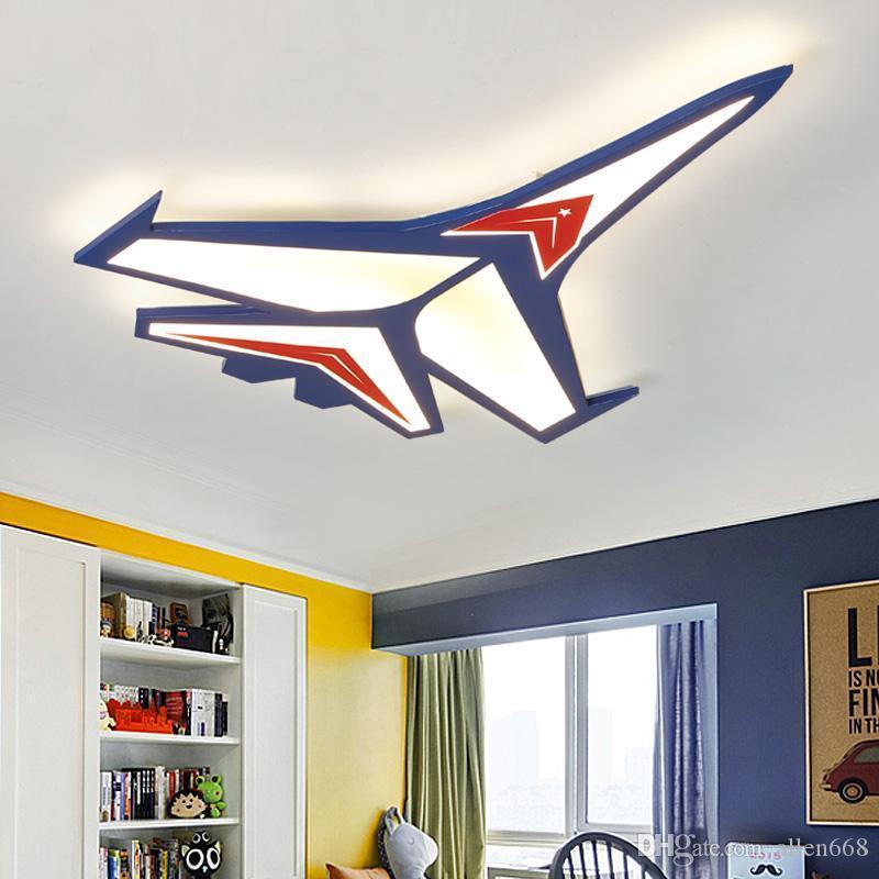 الخيالة الحديث LED أضواء السقف الكرتون سطح الطائرة مصباح السقف لغرفة نوم الأطفال كيد غرفة ديكور المنزل ضوء مصباح