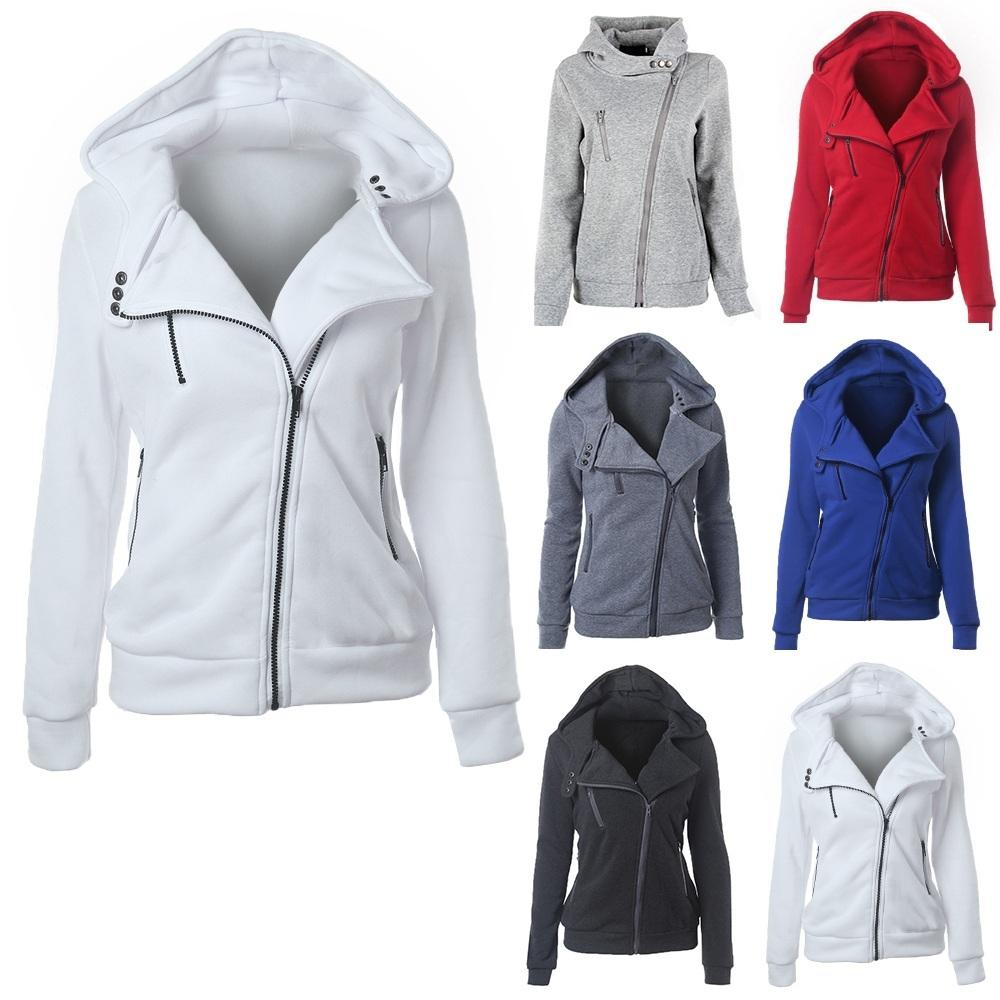Mode Sweat-shirts manches longues femmes Sweats Vestes à capuche Zipper Jumper Pardessus Outwear Harajuku Femme Sweat Y200610