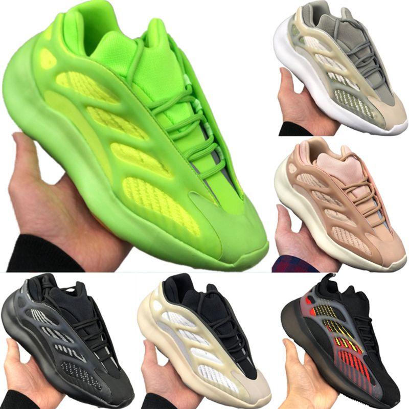 2020 Coconut 700 V3 Azael Alvah estática Reflective Running Shoes Original Kanye West Foam Runner 700 V3 tampão de borracha Jogger Shoes