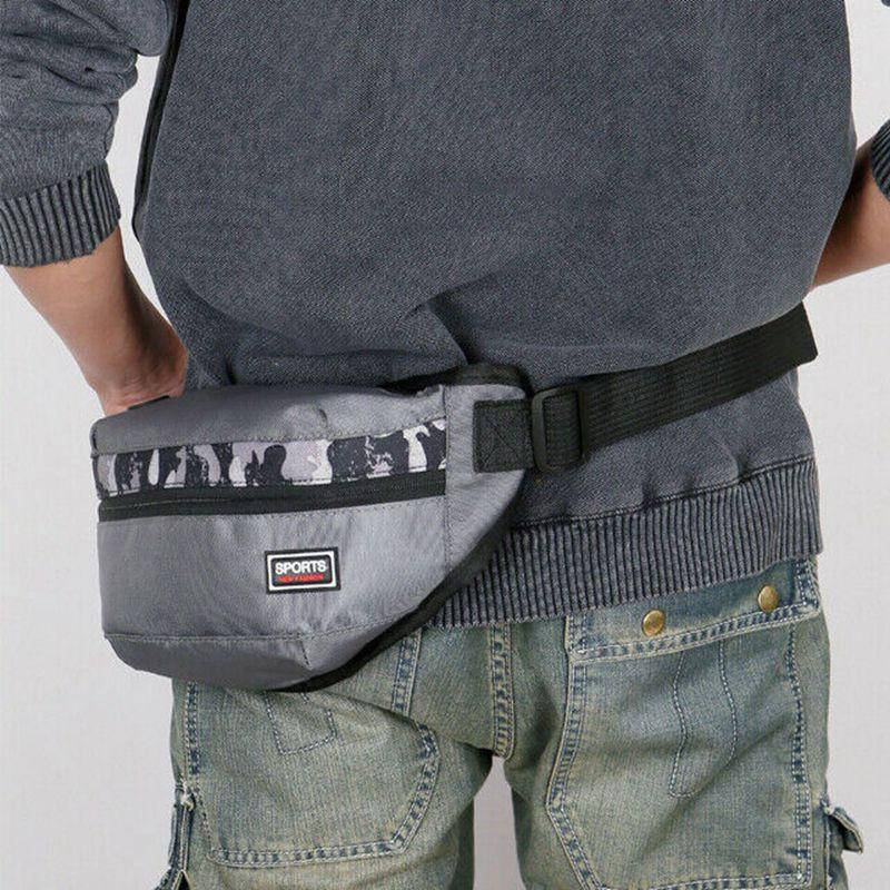 Hot Mens Military Cycling Waist Fanny Pack Bum Belt Bag Pouch Travel Hip Purse