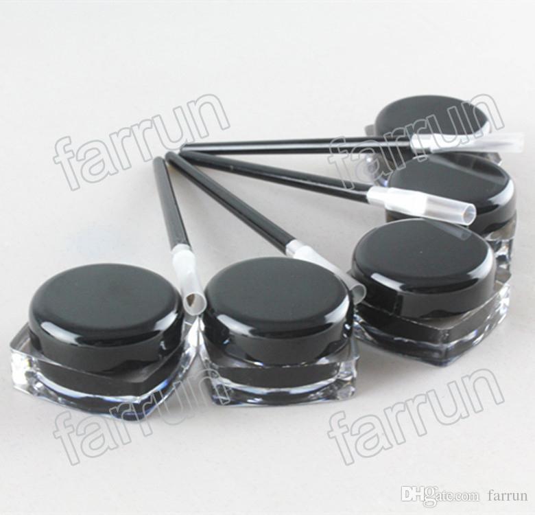 sans logo crème eyeliner noir avec pinceau gel Eyeliner solide avec pinceau gratuit prix pas cher imprimer votre propre logo.