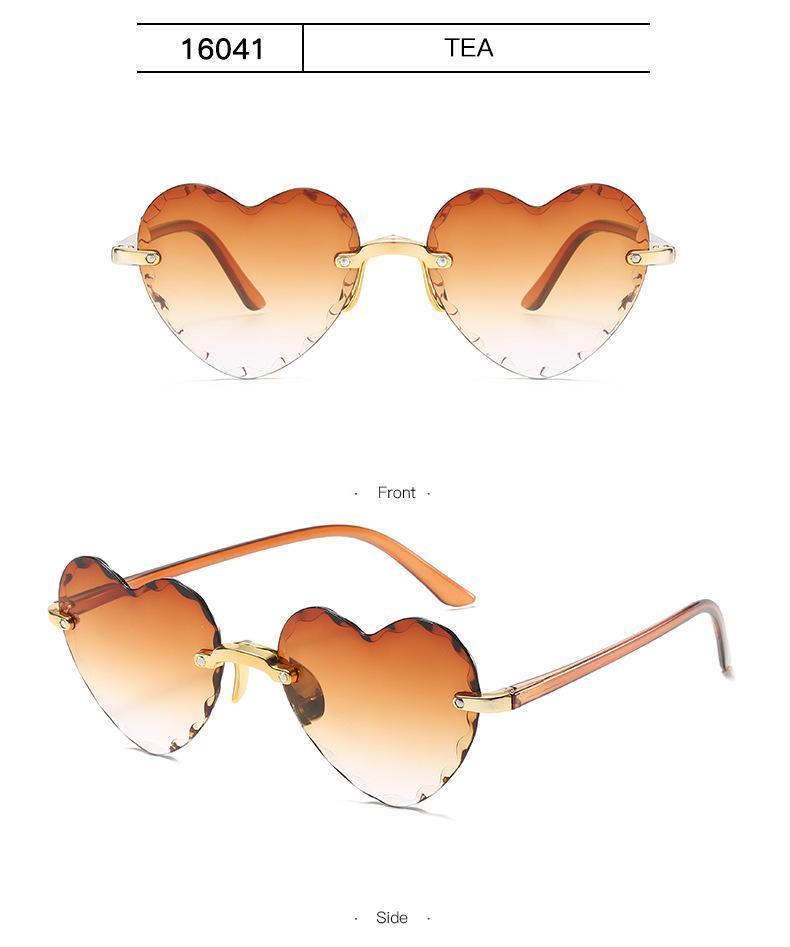 Encantador corazón gafas dropshipping al aire libre gafas de sol en forma de corazón Gafas de sol en forma de corazón Mujeres Forma de moda amor Viaje Gafas Gafas de sol NQGA