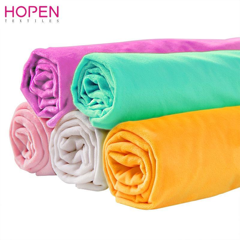 Di vendita caldo morbido velluto Minky tessuto per fai da te cucito tessuto di giocattoli o Materiale del bambino 45x50cm 5pcs / lotto 28 colori scelgono il trasporto libero