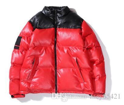 17fw T X SP Кожа Nuptse куртки пуховики Желтый Красный Черный ветрозащитный Толстые Верхняя одежда Тенденции моды пуховики HFYTYRF08