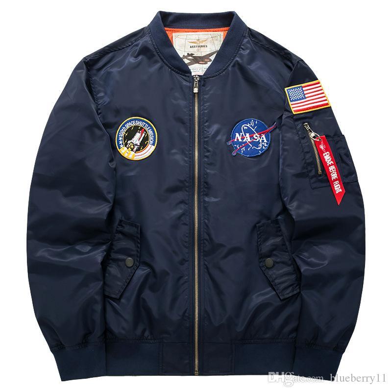 남성 캐주얼 칼라 재킷 놓은 미국의 파일럿 남성 봄 가을 플러스 지방 크기의 조수 정장