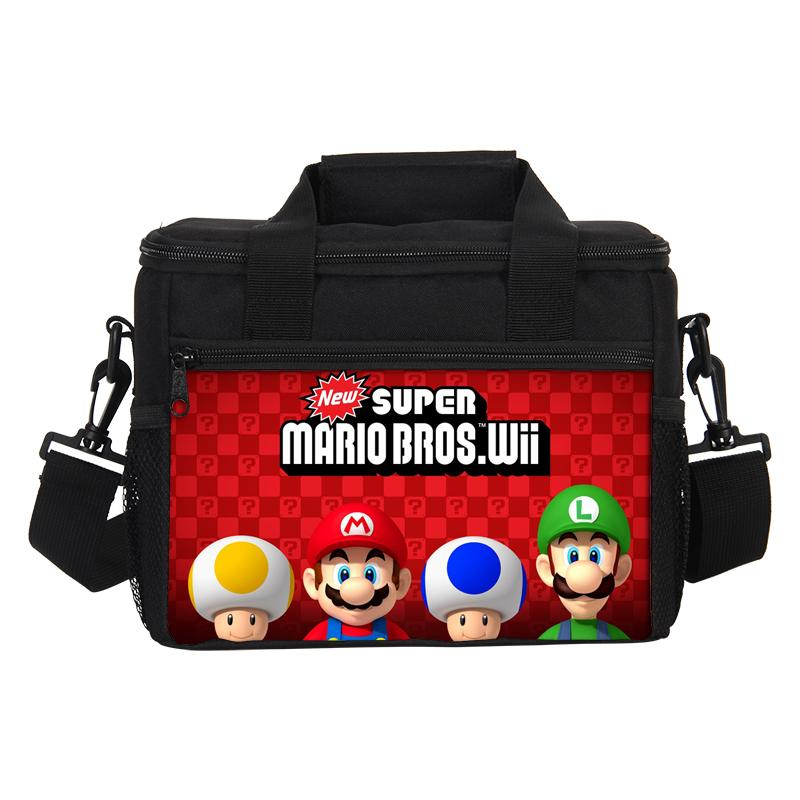 New Insulated Cooler Picnic Bags Thermal Lunch Box Super Mario Girls Boys School Lunch Bag Women Portable Storage Container