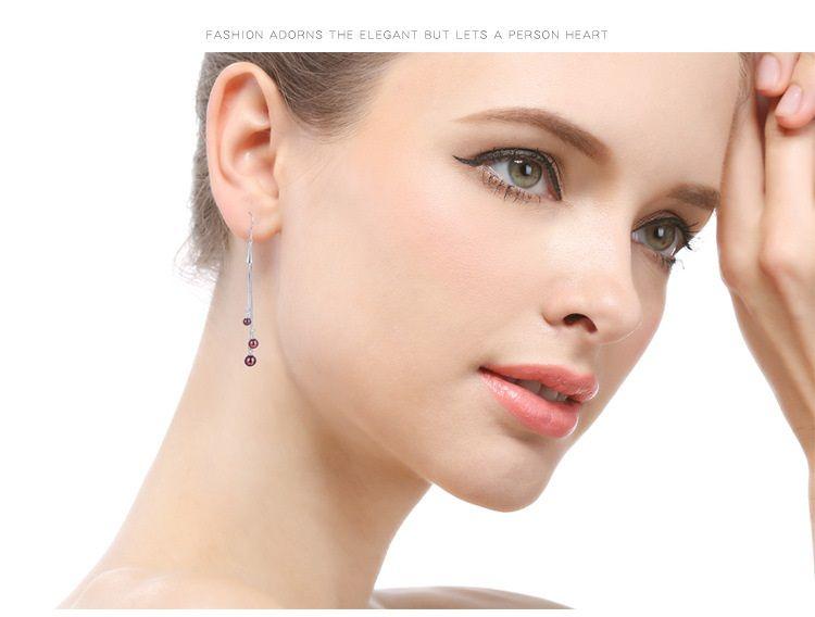 argent sterling femmes de qualité S925 boucles d'oreilles goutte SS925 boucle d'oreille source de l'usine de pompons de pendeloques de dame fournisseur DDS01962