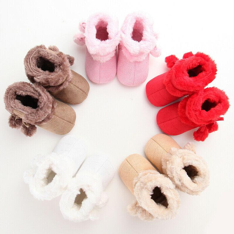 Botas Bebés Meninas Menino de neve botas de inverno quente Sapatinho infantil da criança recém-nascido Crib Shoes Cotton Tassel sólidas moles frete grátis