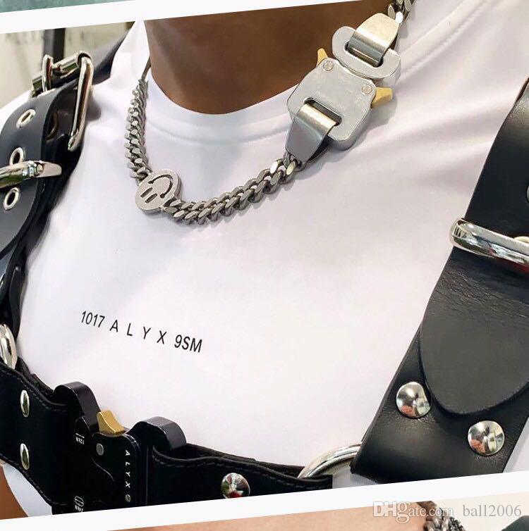 2020 1017 alyx ستوديو شعار سلسلة معدنية قلادة أحزمة سوار الرجال النساء الهيب هوب في الهواء الطلق اكسسوارات الشوارع هدية هدية السفينة حرة