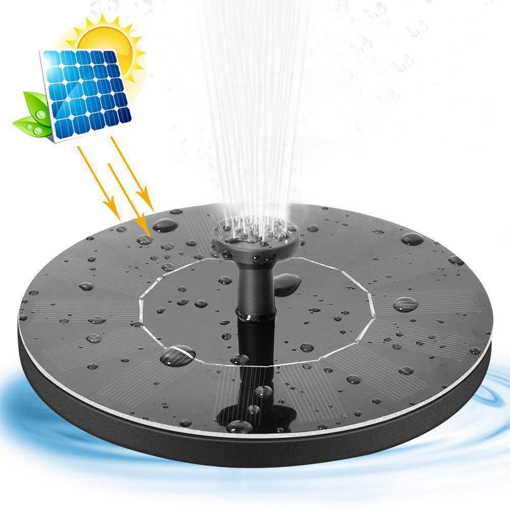 MINI تعمل بالطاقة الشمسية العائمة لوحة المياه الطيور حمام نافورة مضخة 30-45cm حديقة فناء البركة بركة الحديقة ديكور