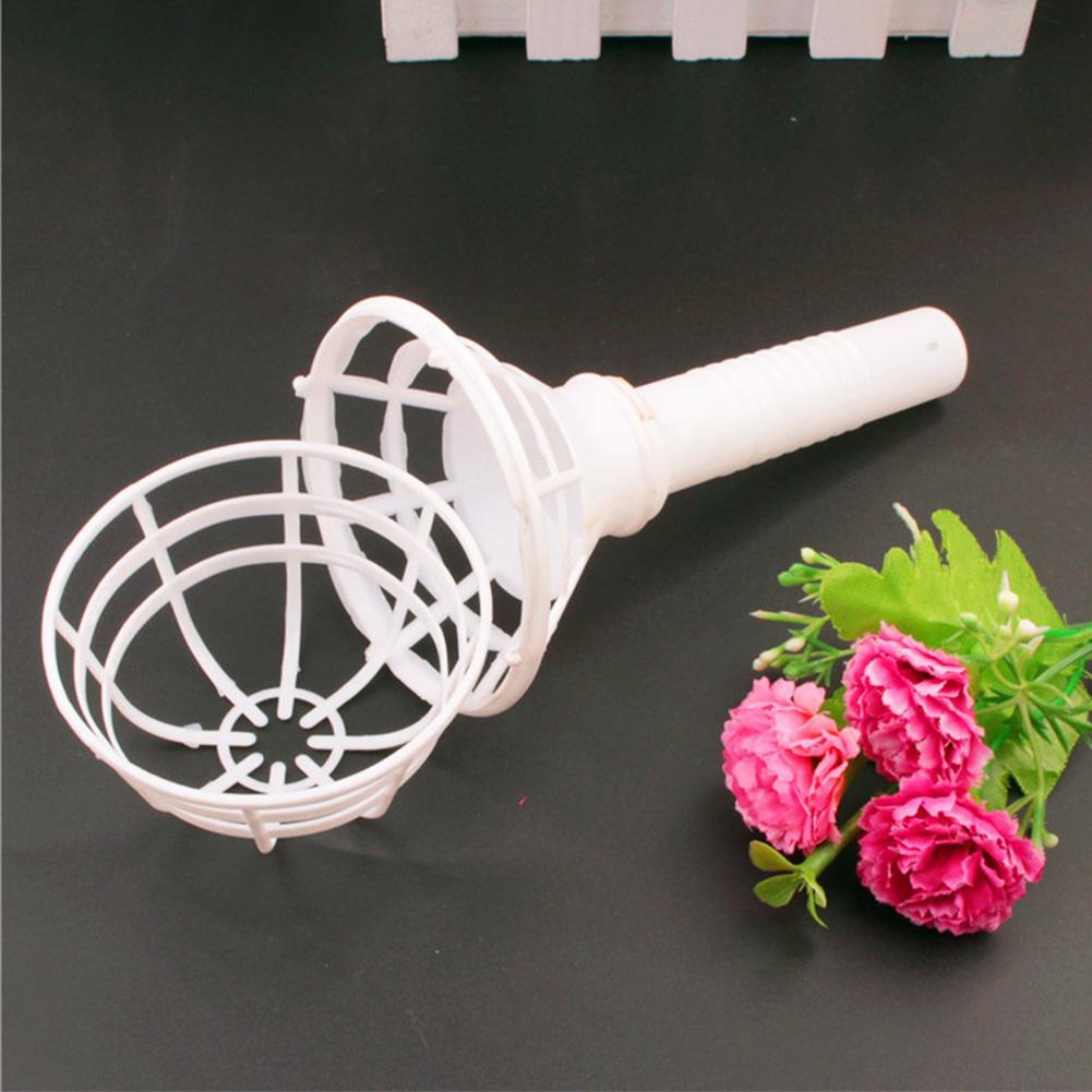 Bridal Bouquet Holder Festival Supplies Florist Flower Exquisite Decoration Home Handle Handheld Party Plastic Wedding